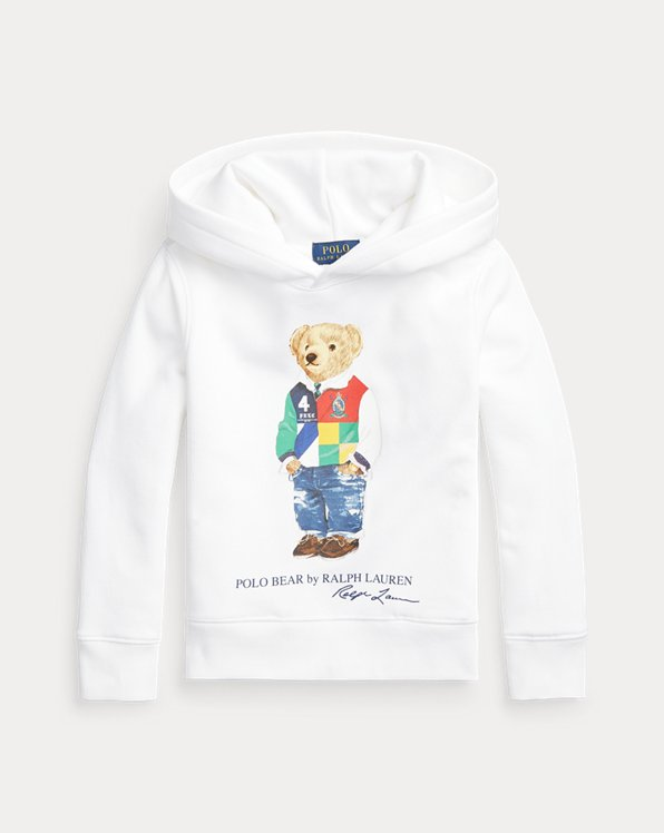 Sweat à capuche Polo Bear molleton