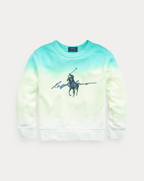 Dip-Dyed Spa Terry Graphic Sweatshirt