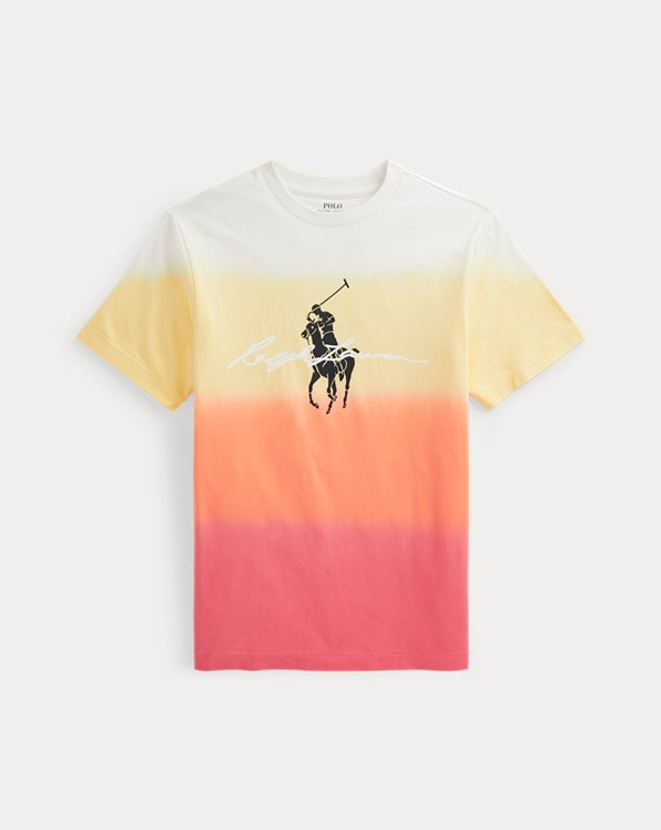 Big Pony Logo Dip-Dyed Cotton Tee