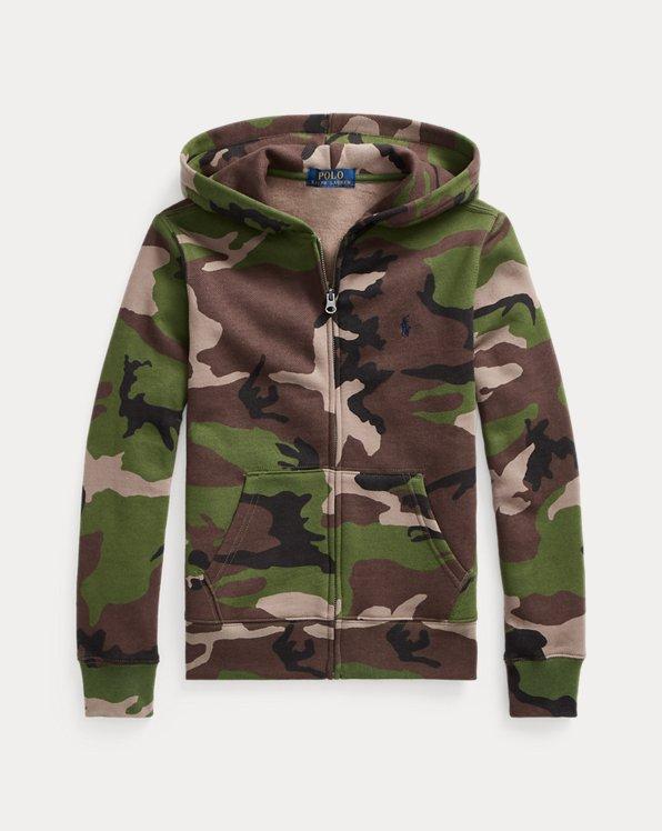 Camo Fleece Full-Zip Hoodie