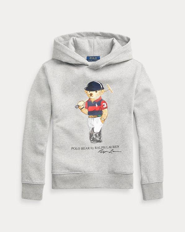 Fleece-Kapuzenshirt mit Polo Bear