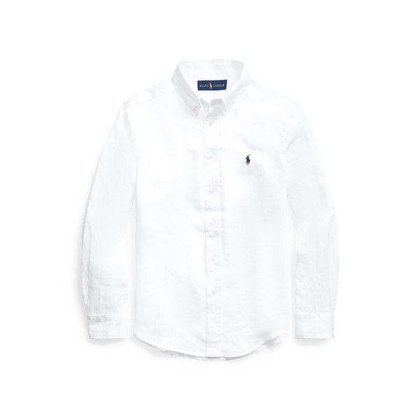 폴로 랄프로렌 보이즈 린넨 셔츠 Polo Ralph Lauren Linen Shirt,White