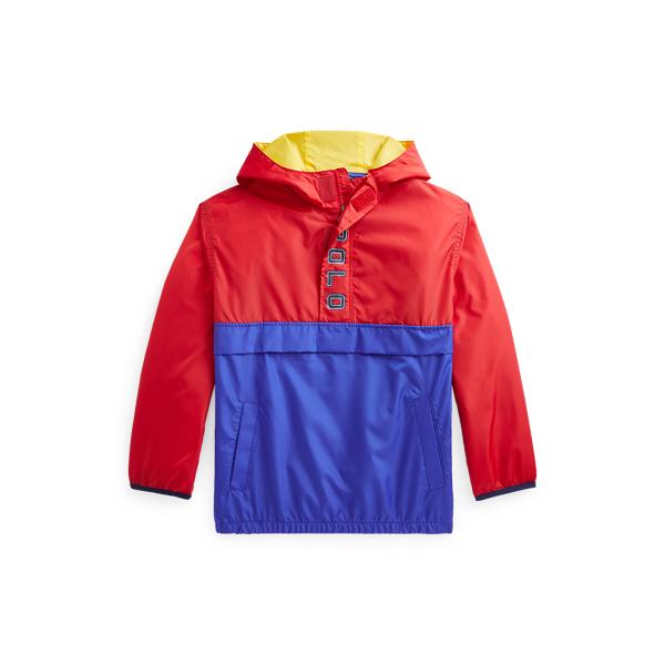 폴로 랄프로렌 Polo Ralph Lauren Water Repellent Hooded Jacket,Rl 2000 Red/Sapphire Star