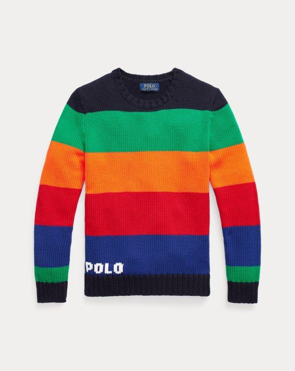 Jersey de algodón de rayas con logotipo