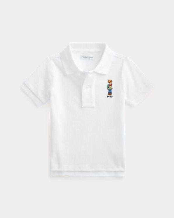 Polo Bear Cotton Mesh Polo Shirt