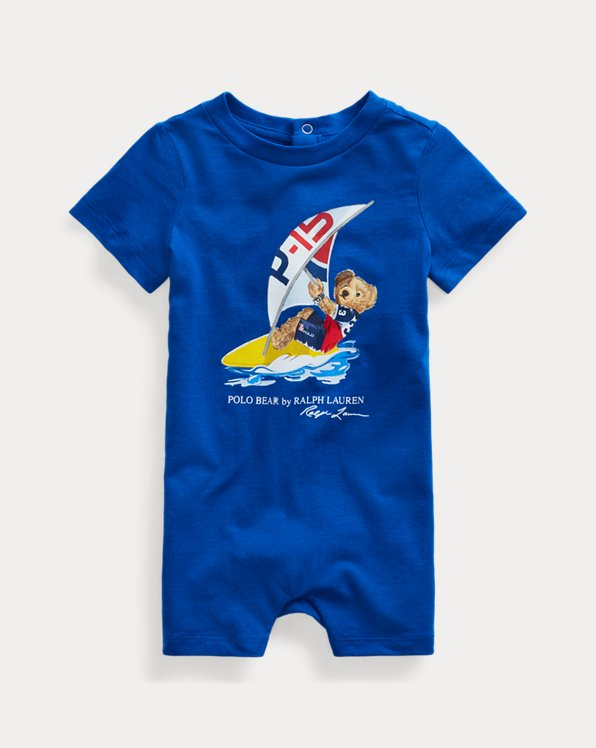 Polo Bear Cotton Jersey Shortall