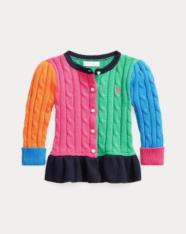 Color-Block-Cardigan mit Schößchen