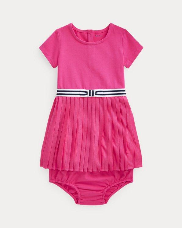 Pleated T-Shirt Dress & Bloomer