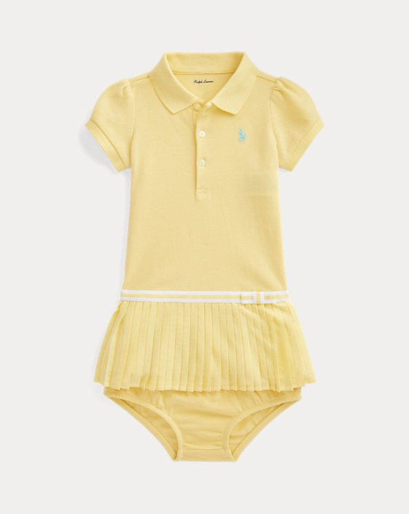Pleated Polo Dress and Bloomer