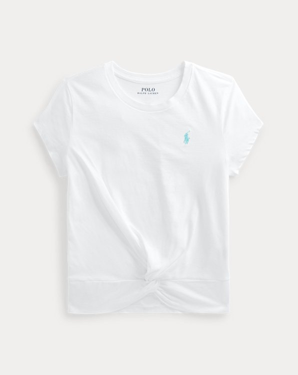 Twisted-Knot Cotton Jersey Tee