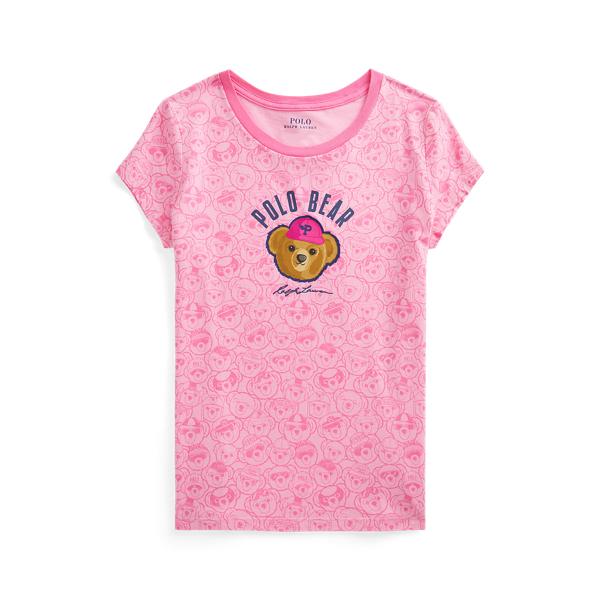 폴로 랄프로렌 Polo Ralph Lauren Polo Bear Cotton Jersey Tee,Baja Pink/Sport Pink