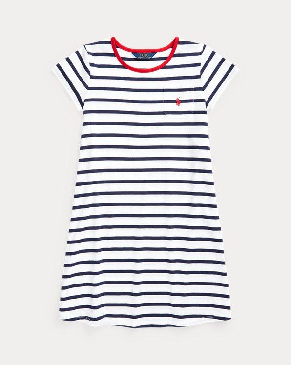 Gestreiftes T-Shirt-Kleid aus Baumwolle