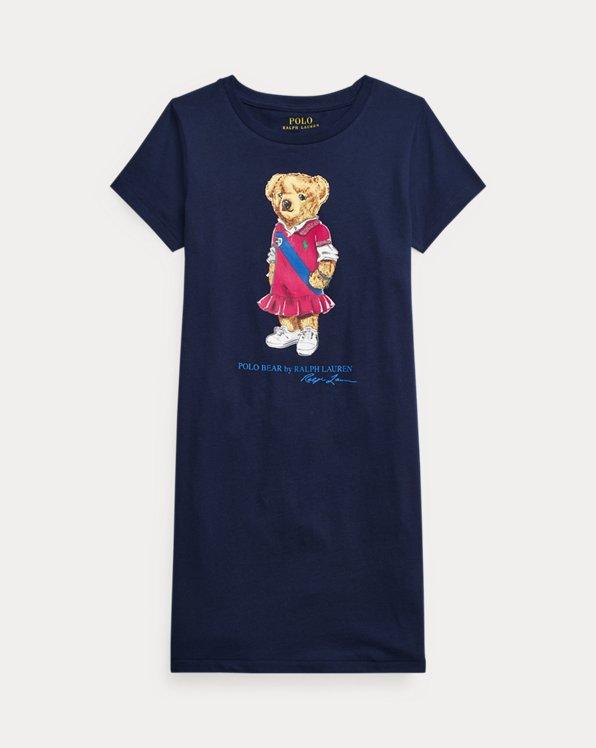 Polo Bear Cotton Jersey T-Shirt Dress