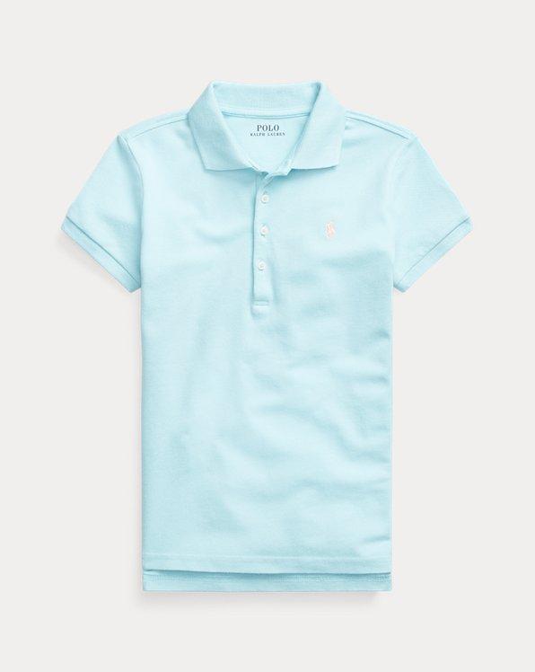 Polohemd aus Stretch-Baumwollpiqué