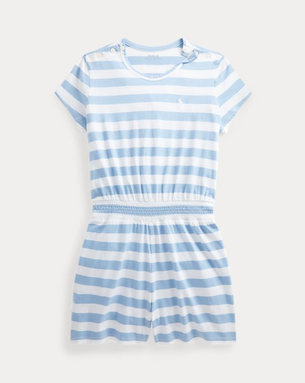 Striped Cotton Jersey Playsuit