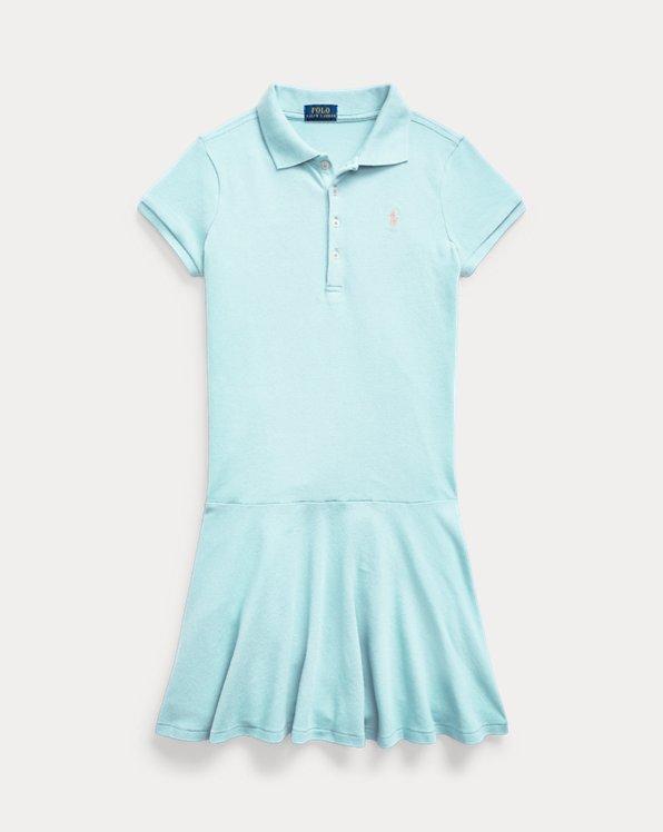 Stretch Mesh Polo Dress