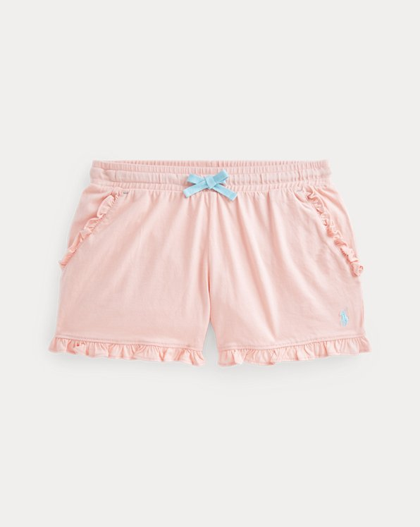 Gerüschte Shorts aus Baumwolljersey