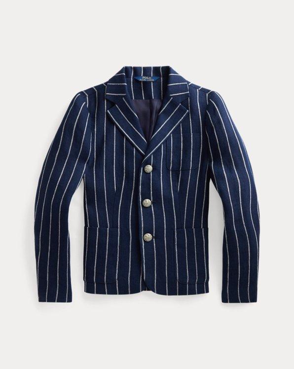 Striped Linen Jacquard Blazer