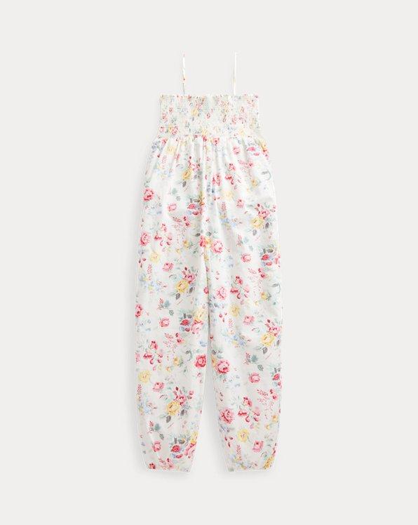 Floral Cotton Poplin Romper