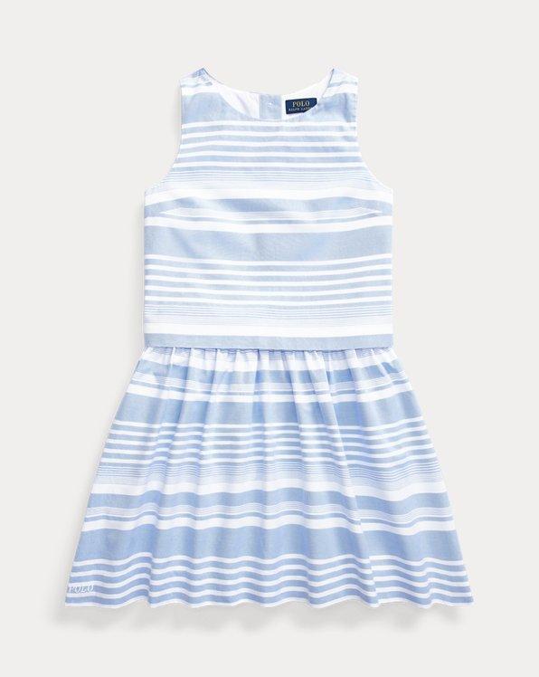Striped Cotton Oxford Top & Skirt Set