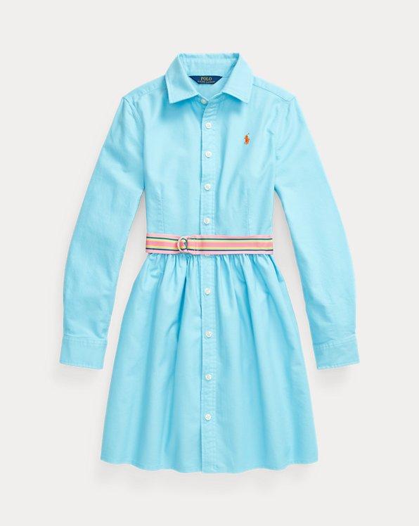 Robe-chemise ceinturée en coton Oxford