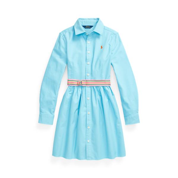 Belted Cotton Oxford Shirtdress