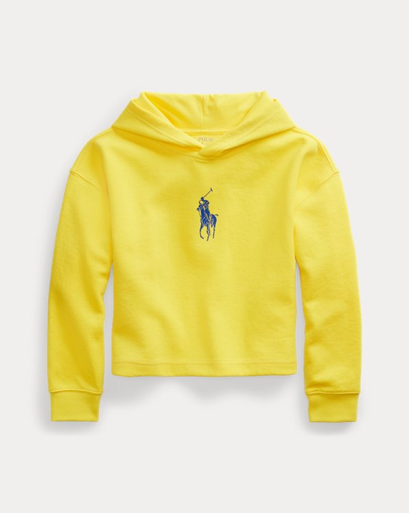 Big Pony Double-Knit Cropped Hoodie