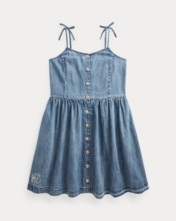 Jeanskleid aus Baumwolle mit Knöpfen