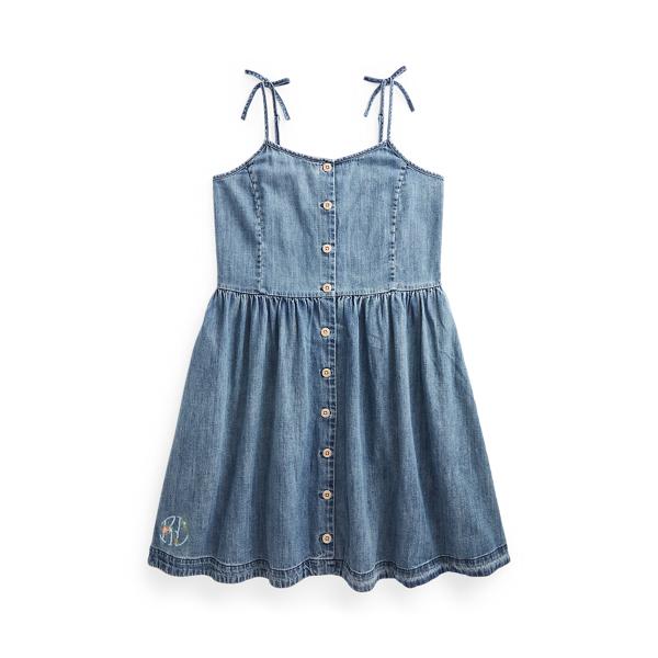 Buttoned Cotton Denim Dress