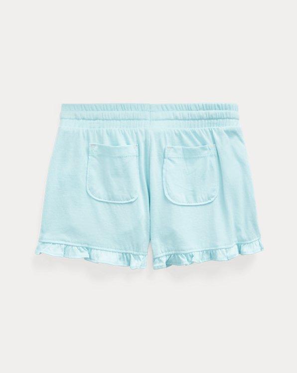 Ruffled Cotton Jersey Short