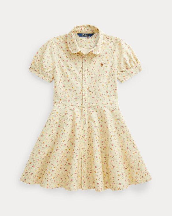 Floral Cotton Oxford Shirtdress