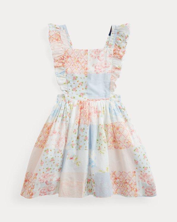 Patchwork-Kleid aus Baumwollpopeline
