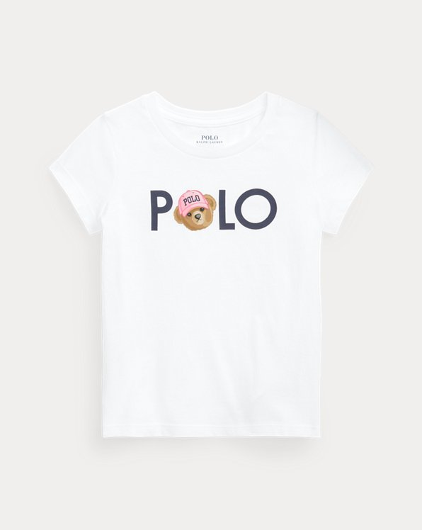 Polo Bear Logo Cotton Jersey T-Shirt