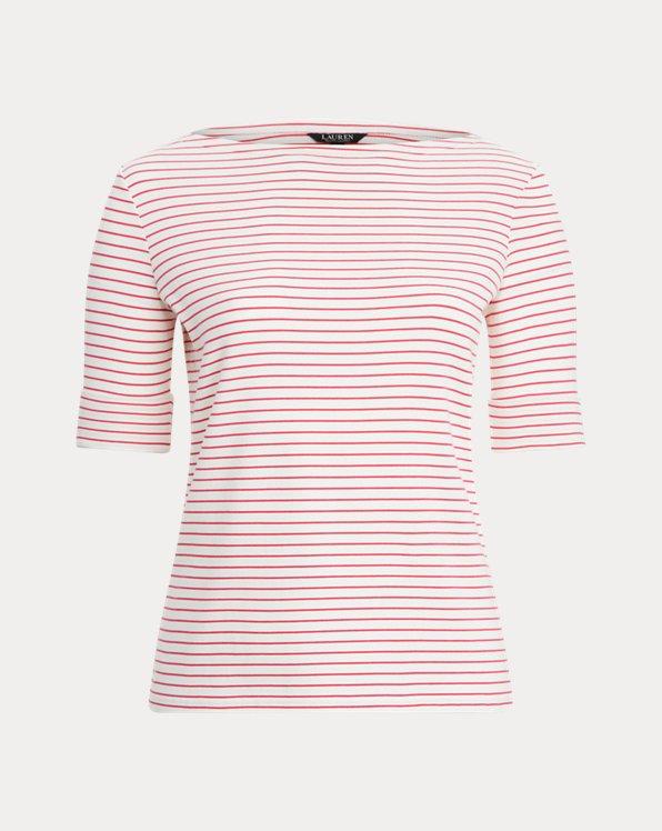 Cotton-Blend Boatneck Top