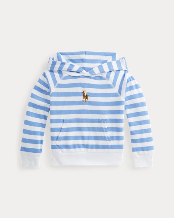 Striped Cotton Terry Hoodie