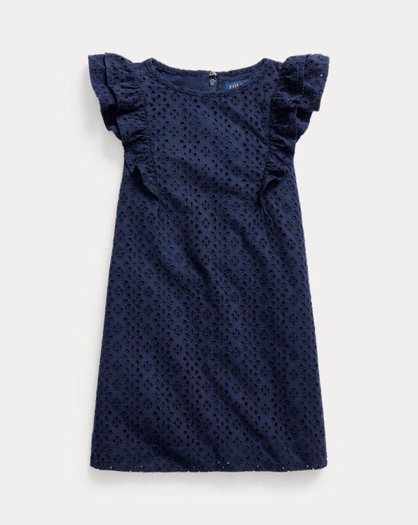 Ruffled Eyelet Cotton Dress