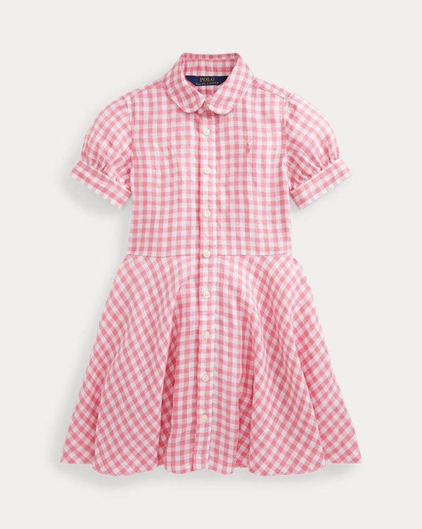 Gingham Linen Shirtdress