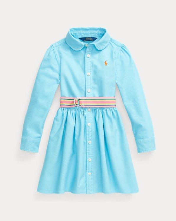 Hemdkleid aus Baumwolloxford mit Gürtel