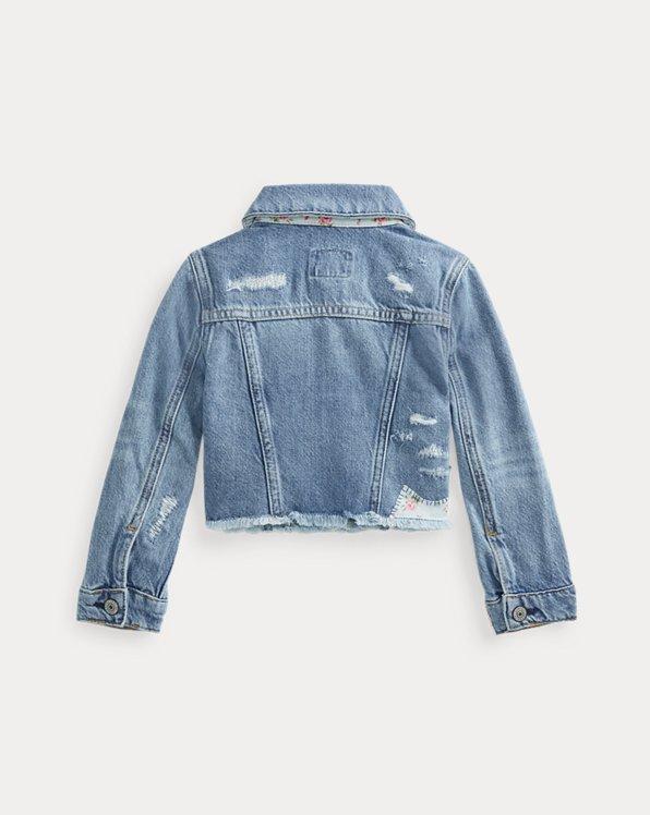 Cropped Denim Trucker Jacket