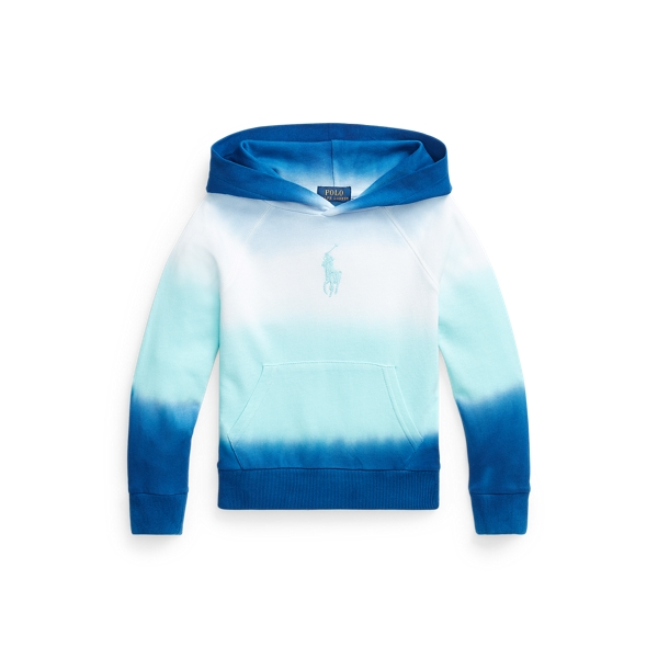 Polo Ralph Lauren Kids' Ombré Spa Terry Hoodie In Blue Ombre