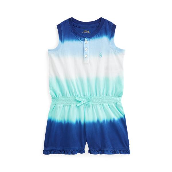 Polo Ralph Lauren Kids' Ombré Cotton Jersey Romper In Blue