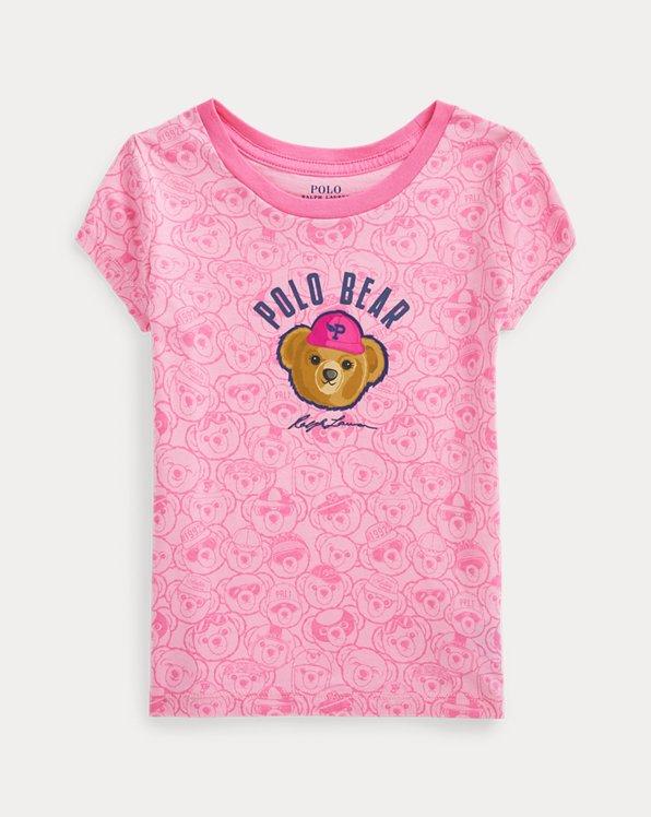 Baumwoll-T-Shirt mit Polo Bear