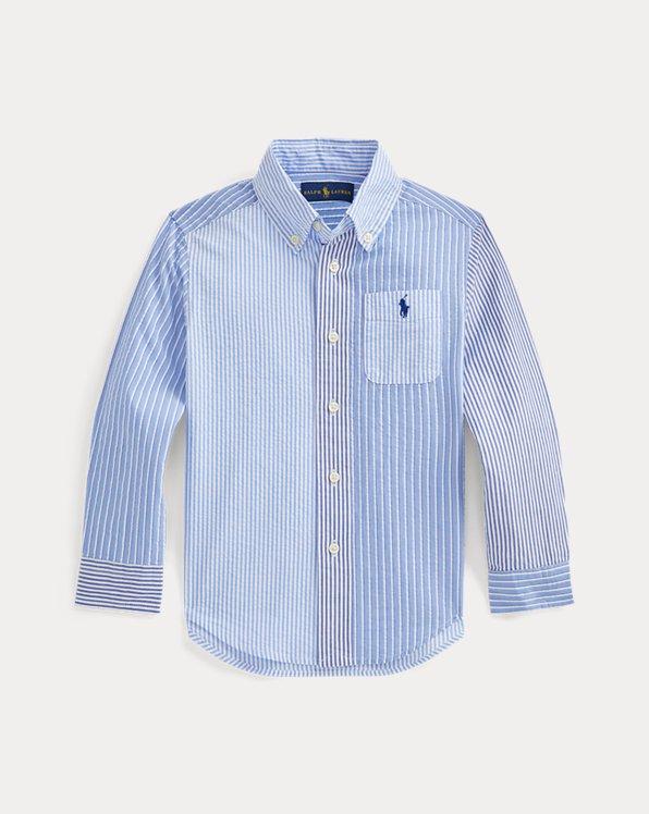 Striped Cotton Seersucker Fun Shirt