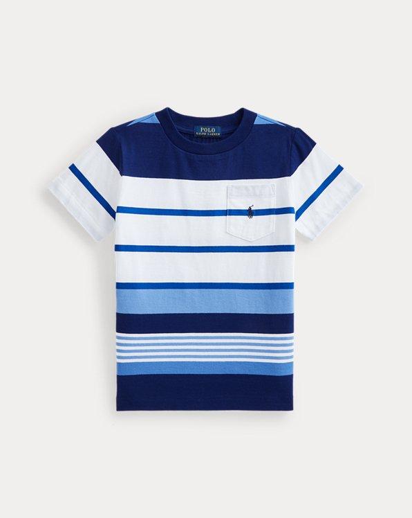 Striped Cotton Jersey Pocket Tee