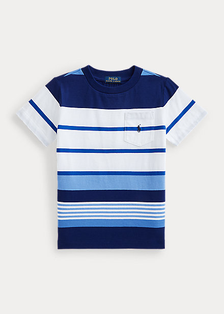 Polo Ralph Lauren Striped Cotton Jersey Pocket Tee