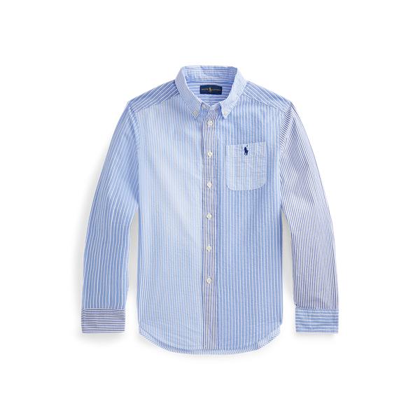 폴로 랄프로렌 보이즈 셔츠 Polo Ralph Lauren Striped Cotton Seersucker Fun Shirt,Blue Stripe Funshirt