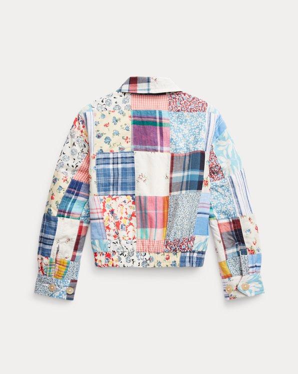 Patchwork Cotton-Linen Jacket