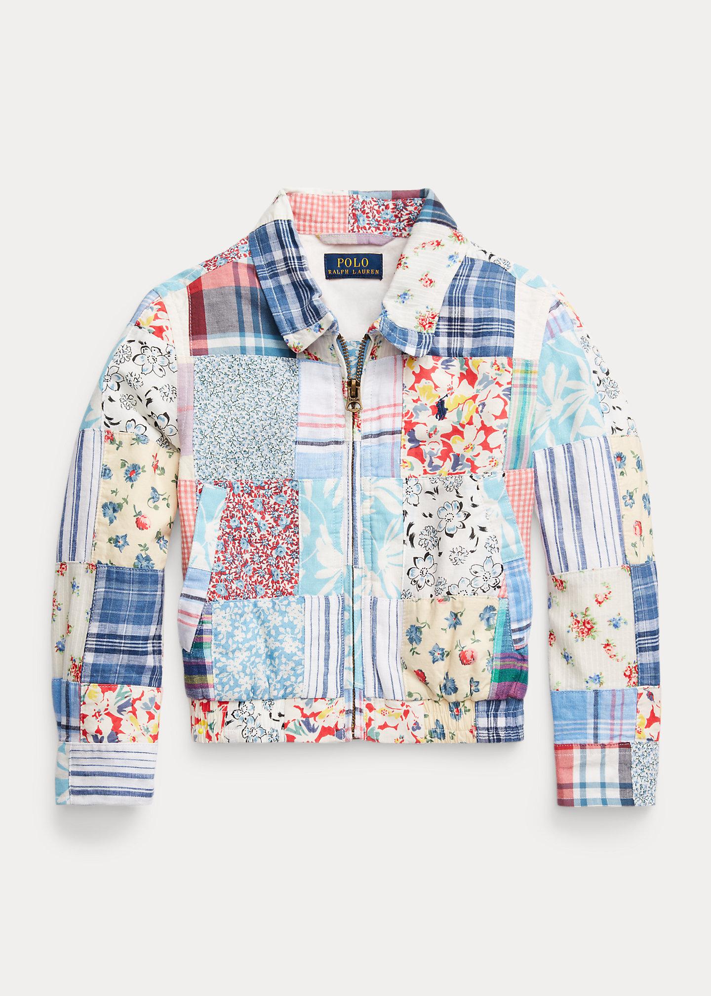 Polo Ralph Lauren Patchwork Cotton Linen Jacket