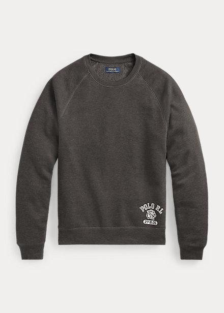 Polo RalphLauren Cotton-Blend Fleece Crewneck Sleep Shirt