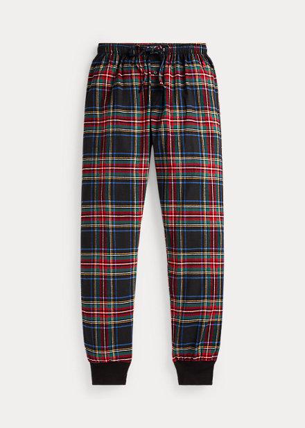Polo RalphLauren Plaid Cotton Flannel Jogger